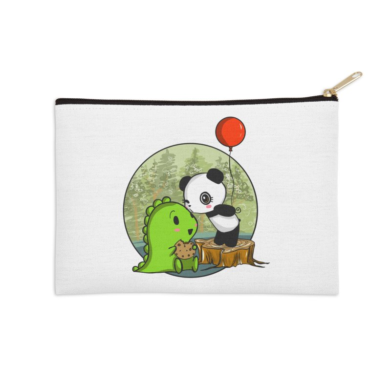 Cookies and Kisses Accessories Zip Pouch by Dino & Panda Inc Artist Shop