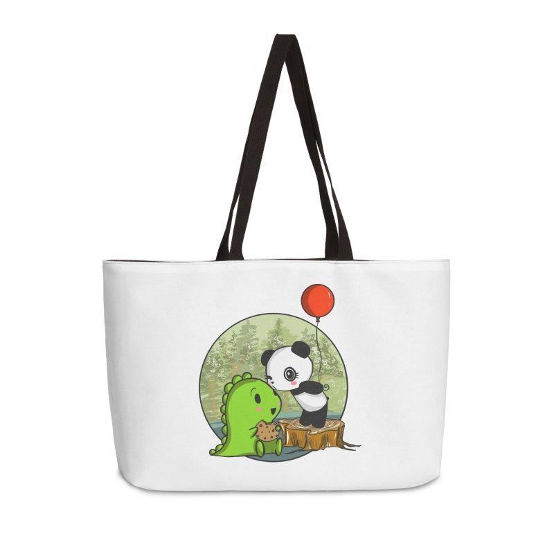 Cookies and Kisses Accessories Weekender Bag Bag by Dino & Panda Inc Artist Shop