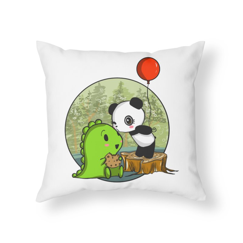 Cookies and Kisses Home Throw Pillow by Dino & Panda Artist Shop