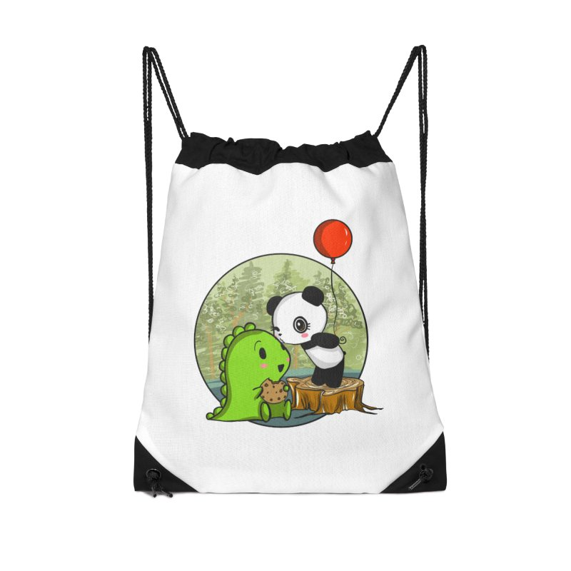 Cookies and Kisses Accessories Drawstring Bag Bag by Dino & Panda Inc Artist Shop