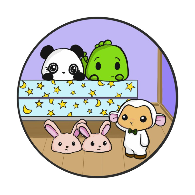Dustbunny Friends by Dino & Panda Inc Artist Shop