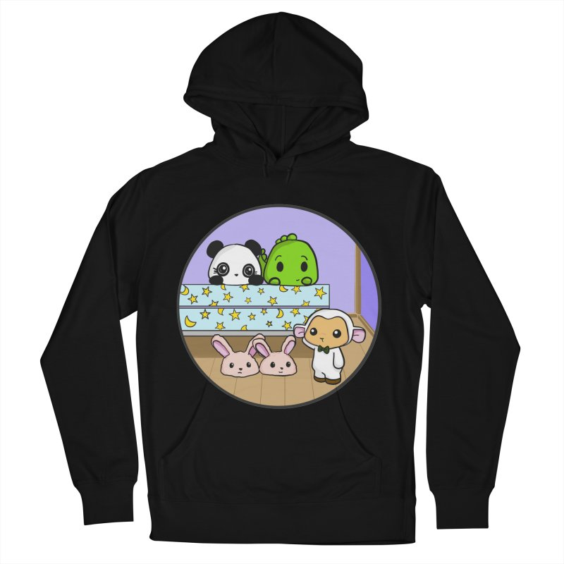 Dustbunny Friends Women's French Terry Pullover Hoody by Dino & Panda Inc Artist Shop