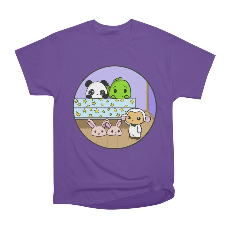 Dustbunny Friends Women's Heavyweight Unisex T-Shirt by Dino & Panda Inc Artist Shop