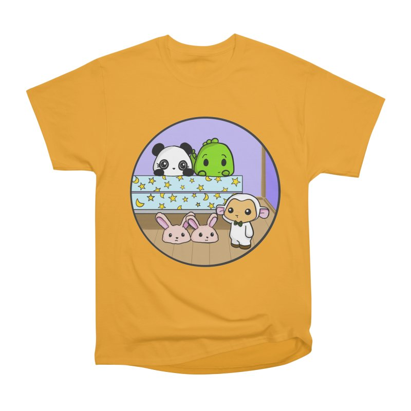 Dustbunny Friends Women's Heavyweight Unisex T-Shirt by Dino & Panda Inc Artist Shop