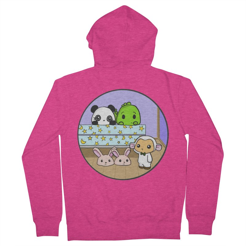 Dustbunny Friends Women's French Terry Zip-Up Hoody by Dino & Panda Inc Artist Shop