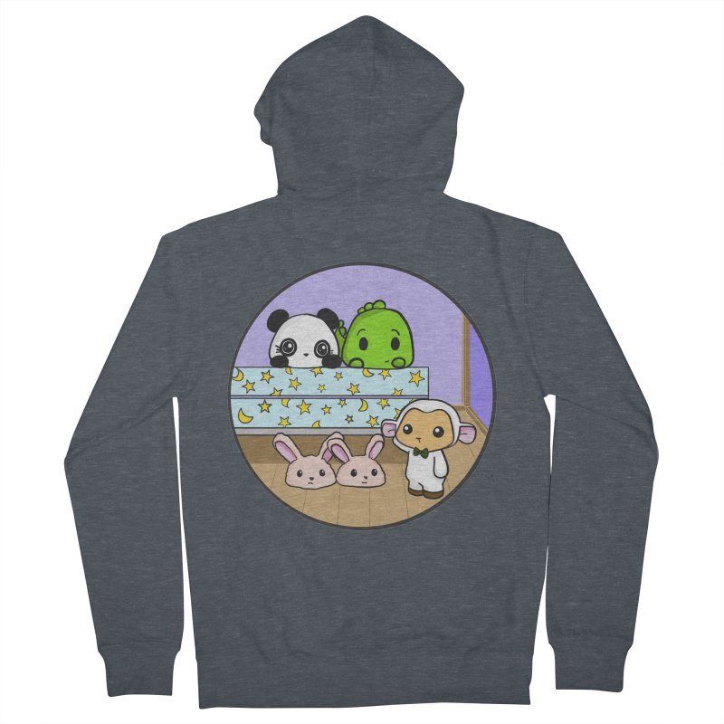 Dustbunny Friends Men's Zip-Up Hoody by Dino & Panda Inc Artist Shop