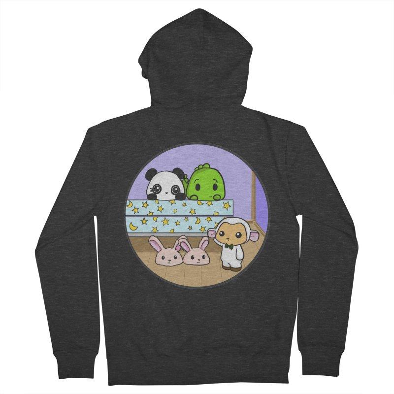 Dustbunny Friends Men's French Terry Zip-Up Hoody by Dino & Panda Inc Artist Shop