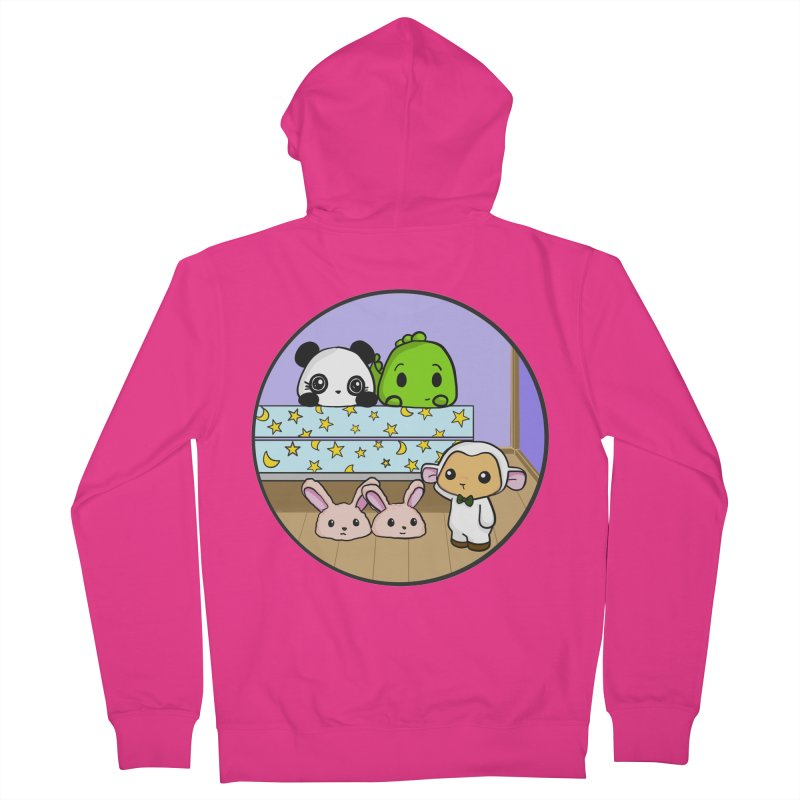 Dustbunny Friends Men's French Terry Zip-Up Hoody by Dino & Panda Inc Artist Shop