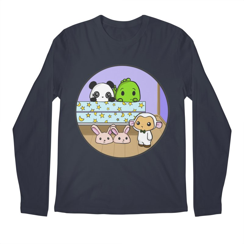 Dustbunny Friends Men's Regular Longsleeve T-Shirt by Dino & Panda Inc Artist Shop