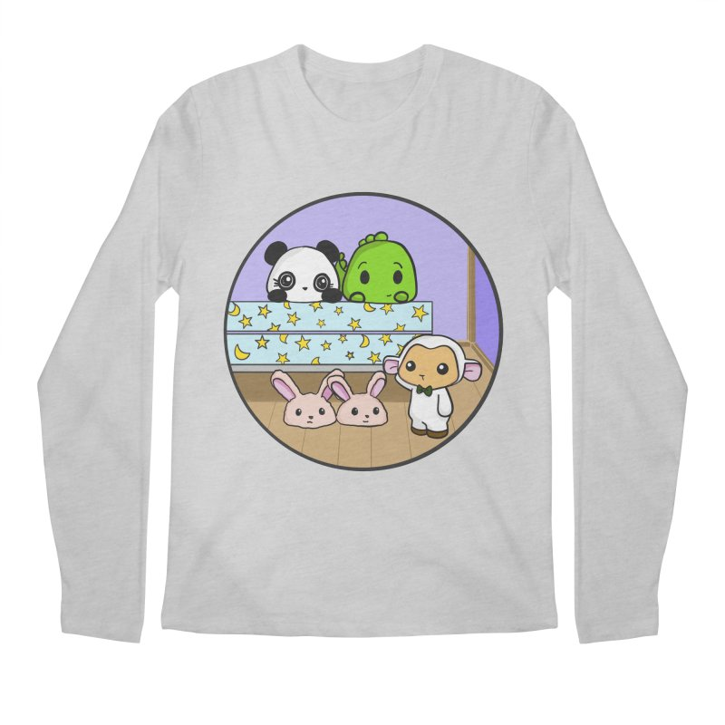 Dustbunny Friends Men's Regular Longsleeve T-Shirt by Dino & Panda Inc Artist Shop