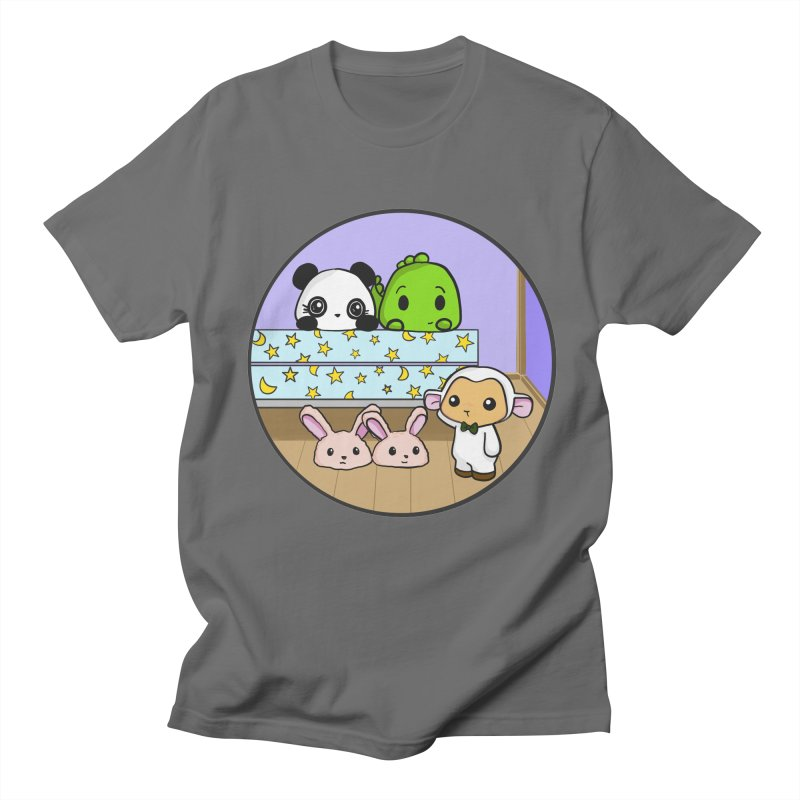 Dustbunny Friends Men's T-Shirt by Dino & Panda Inc Artist Shop