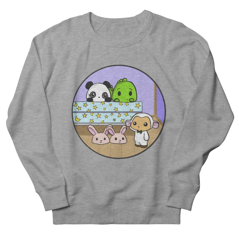 Dustbunny Friends Women's French Terry Sweatshirt by Dino & Panda Inc Artist Shop