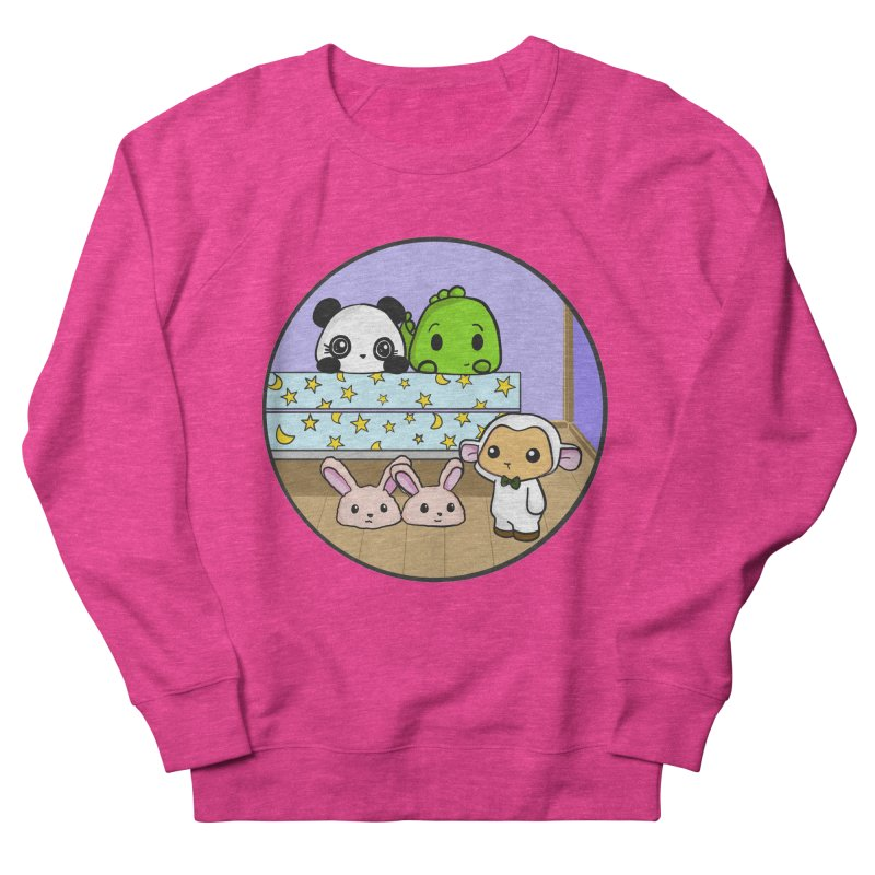Dustbunny Friends Men's French Terry Sweatshirt by Dino & Panda Inc Artist Shop
