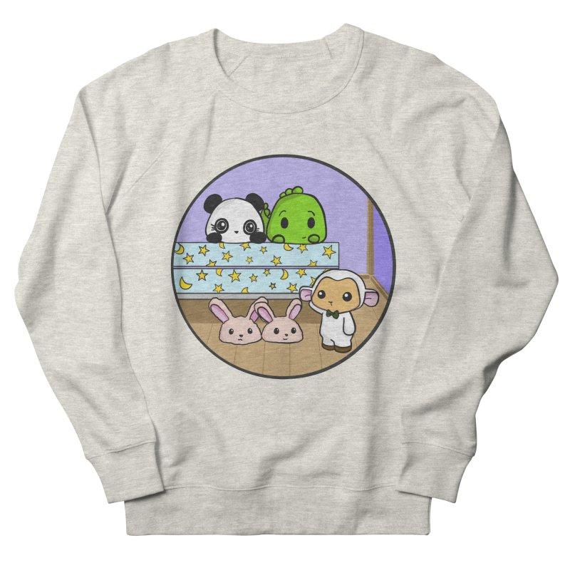 Dustbunny Friends Men's French Terry Sweatshirt by Dino & Panda Inc Artist Shop