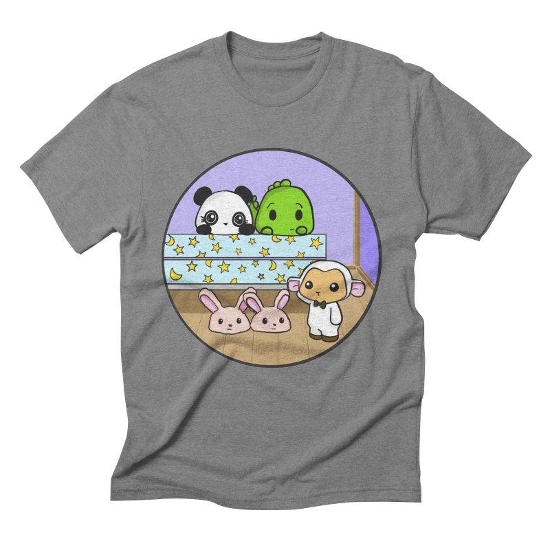 Dustbunny Friends Men's Triblend T-Shirt by Dino & Panda Inc Artist Shop
