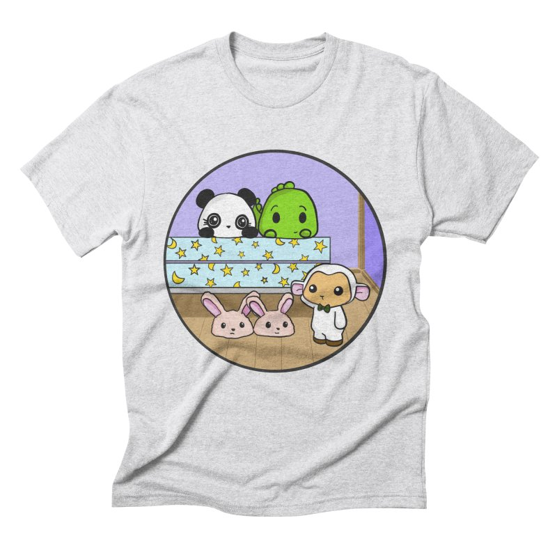 Dustbunny Friends Men's Triblend T-Shirt by Dino & Panda Inc Artist Shop