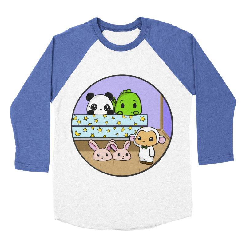 Dustbunny Friends Women's Baseball Triblend T-Shirt by Dino & Panda Inc Artist Shop