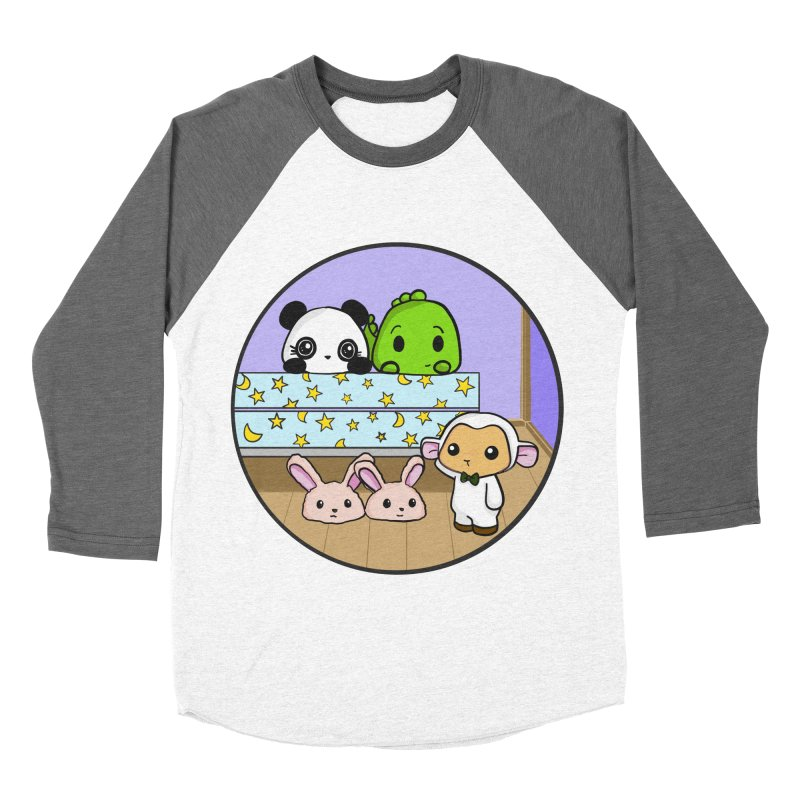 Dustbunny Friends Women's Baseball Triblend Longsleeve T-Shirt by Dino & Panda Inc Artist Shop