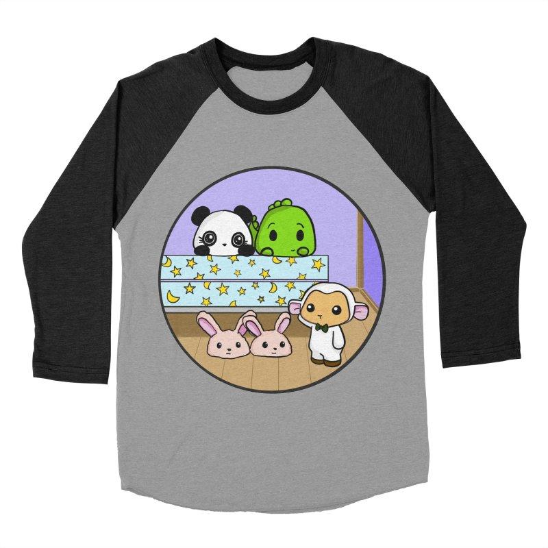 Dustbunny Friends Men's Baseball Triblend Longsleeve T-Shirt by Dino & Panda Inc Artist Shop