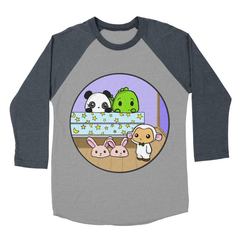 Dustbunny Friends Men's Baseball Triblend Longsleeve T-Shirt by Dino & Panda Inc Artist Shop