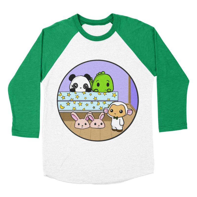 Dustbunny Friends Men's Baseball Triblend T-Shirt by Dino & Panda Inc Artist Shop