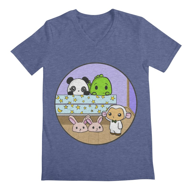 Dustbunny Friends Men's V-Neck by Dino & Panda Inc Artist Shop