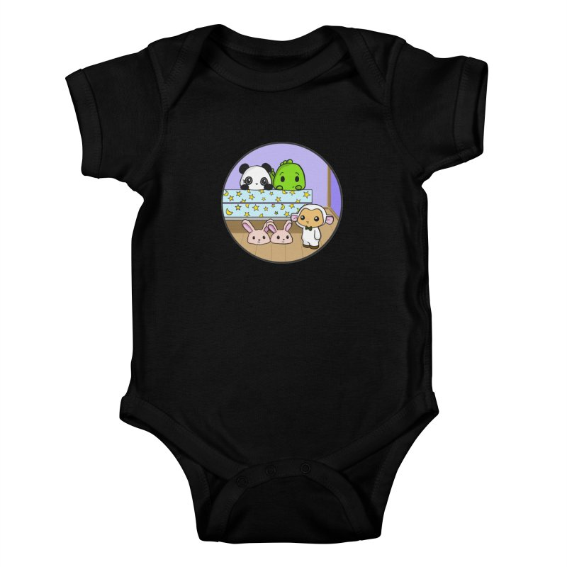 Dustbunny Friends Kids Baby Bodysuit by Dino & Panda Inc Artist Shop