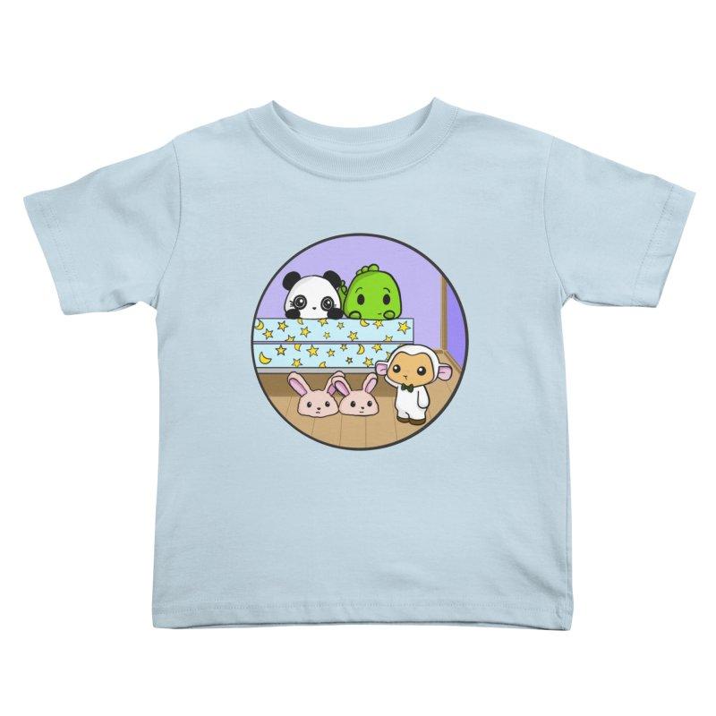 Dustbunny Friends Kids Toddler T-Shirt by Dino & Panda Inc Artist Shop