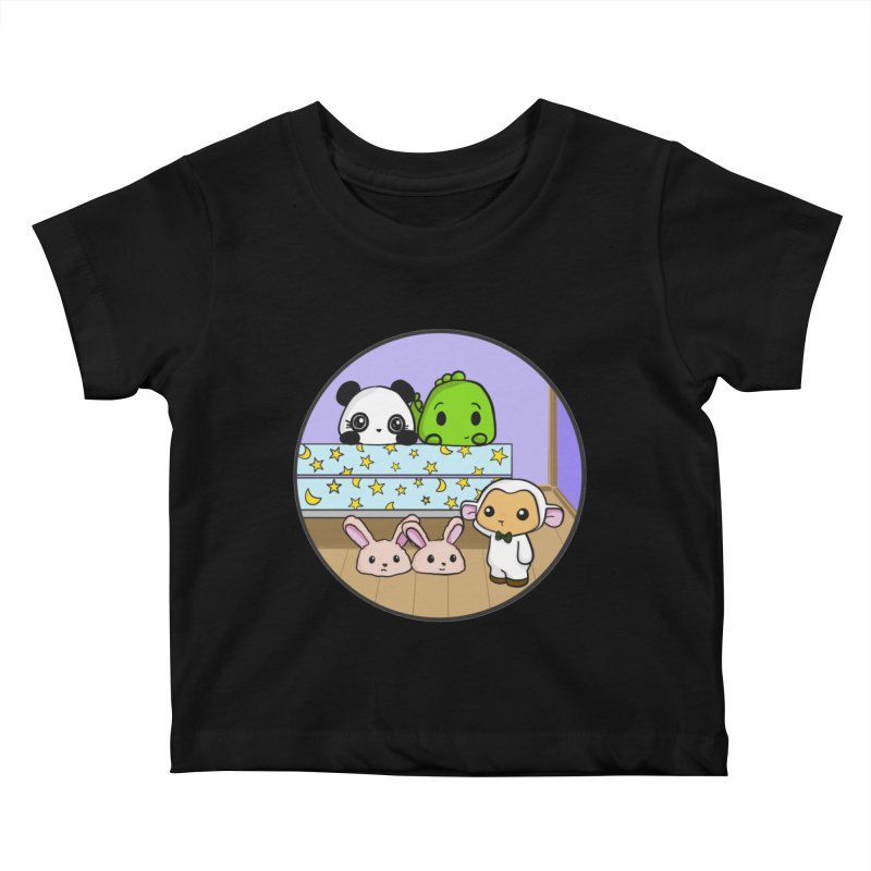 Dustbunny Friends Kids Baby T-Shirt by Dino & Panda Inc Artist Shop