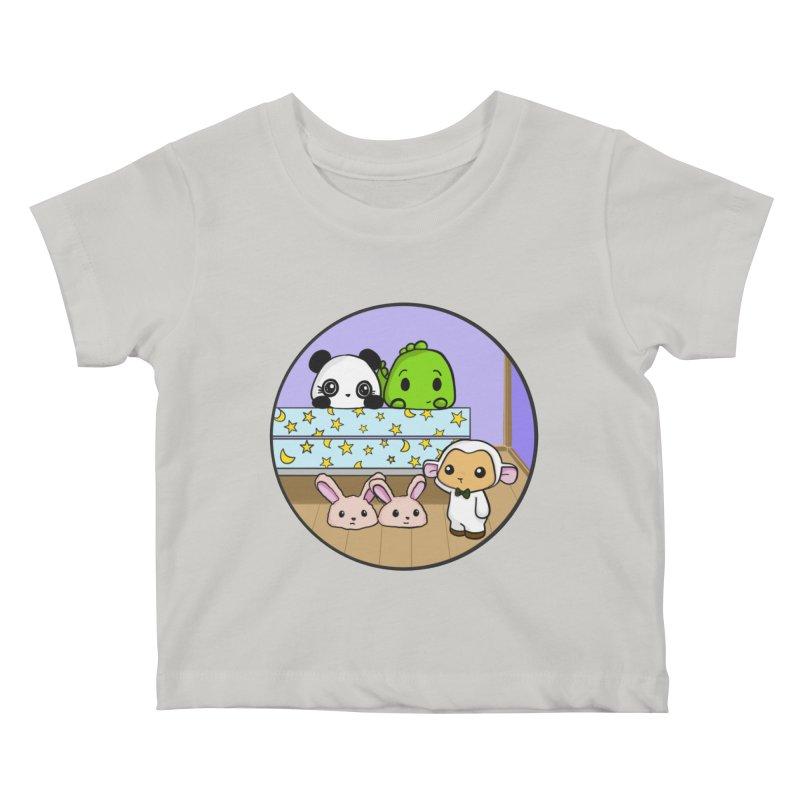 Dustbunny Friends Kids Baby T-Shirt by Dino & Panda Inc Artist Shop