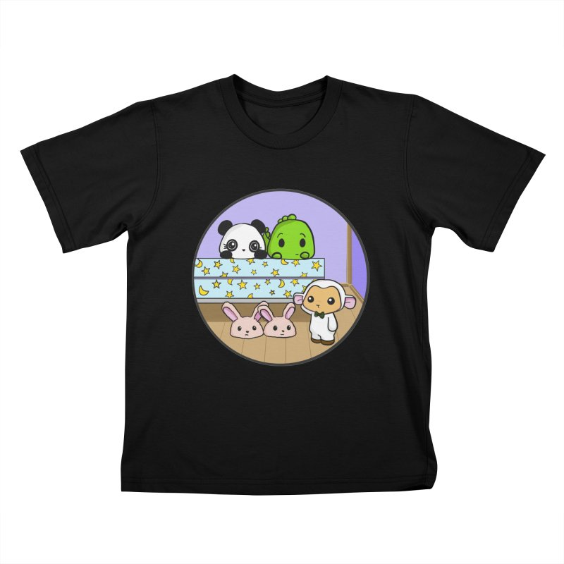 Dustbunny Friends Kids T-Shirt by Dino & Panda Inc Artist Shop