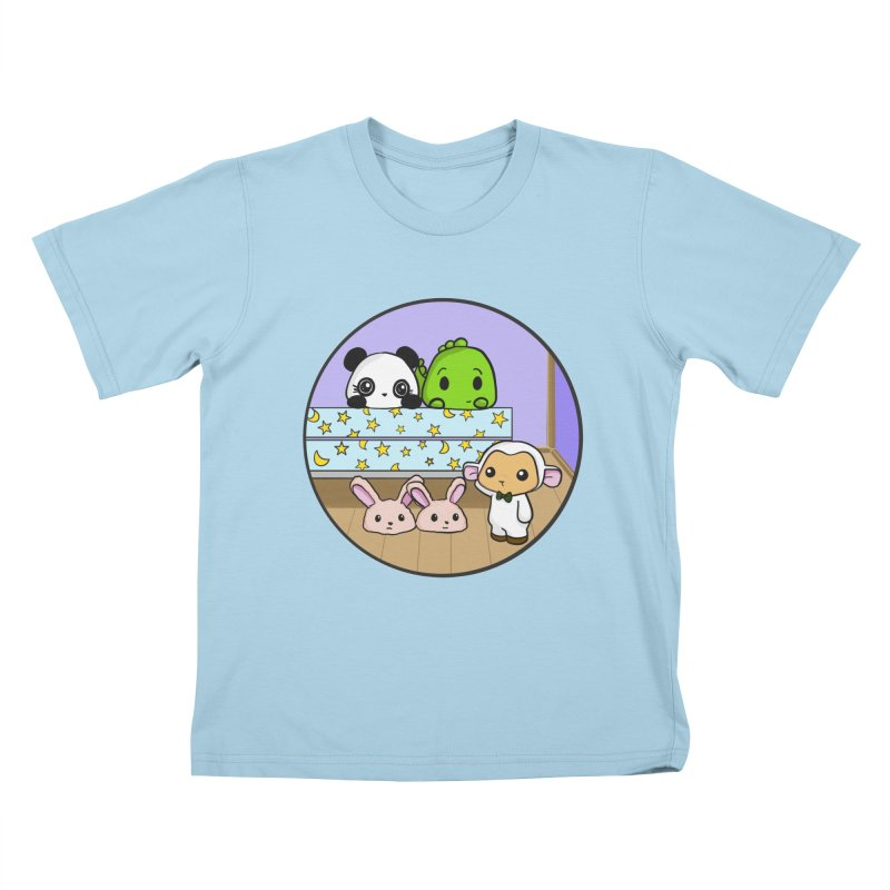 Dustbunny Friends Kids T-Shirt by Dino & Panda Inc Artist Shop