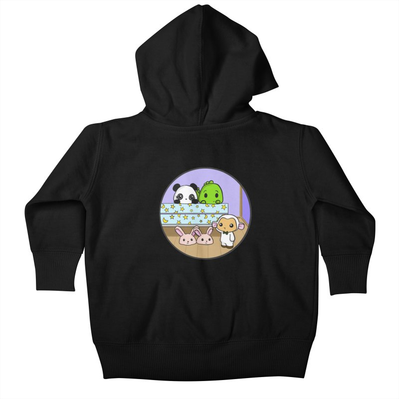 Dustbunny Friends Kids Baby Zip-Up Hoody by Dino & Panda Inc Artist Shop
