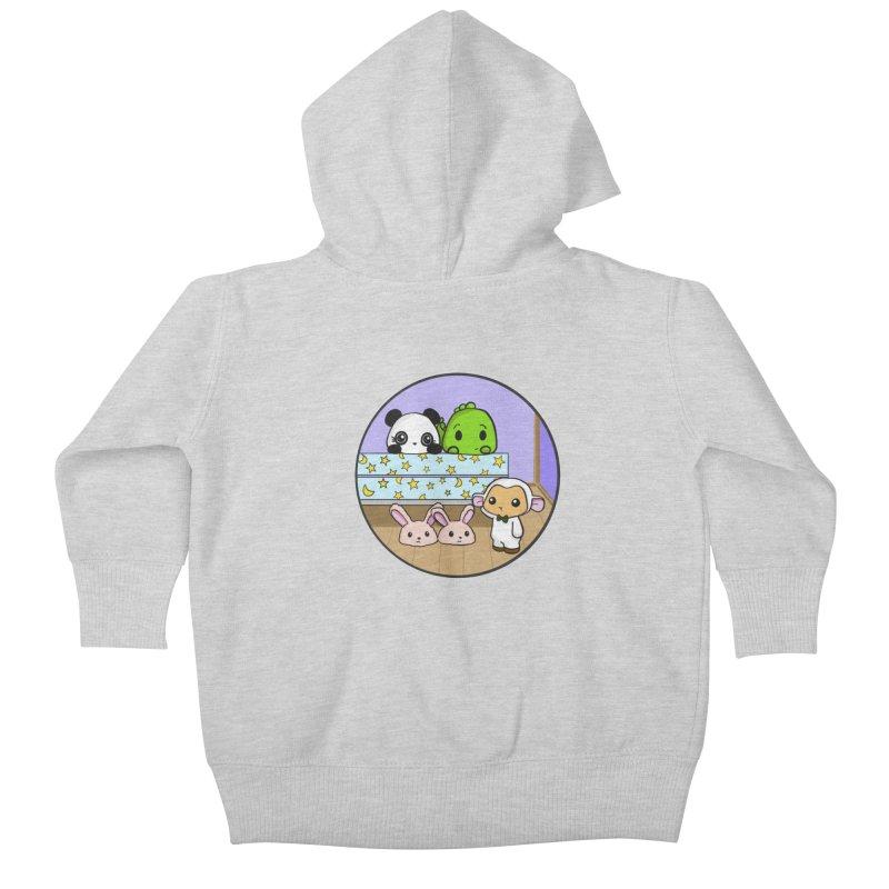 Dustbunny Friends Kids Baby Zip-Up Hoody by Dino & Panda Inc Artist Shop