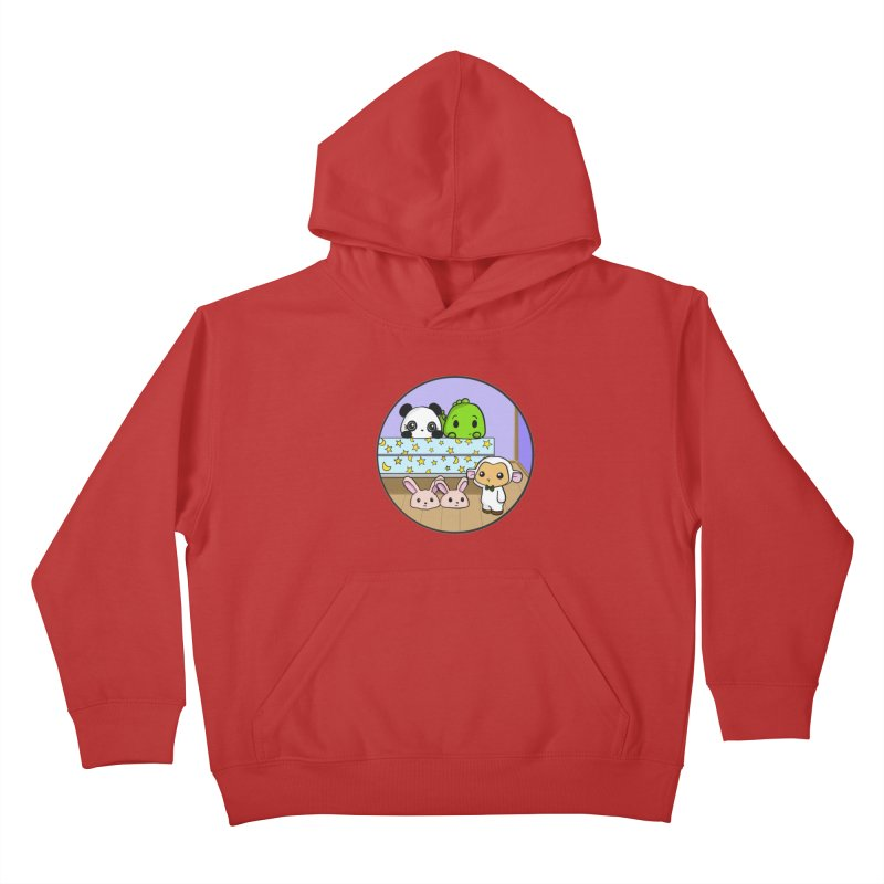 Dustbunny Friends Kids Pullover Hoody by Dino & Panda Inc Artist Shop