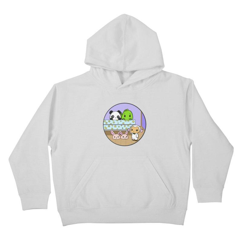 Dustbunny Friends Kids Pullover Hoody by Dino & Panda Inc Artist Shop