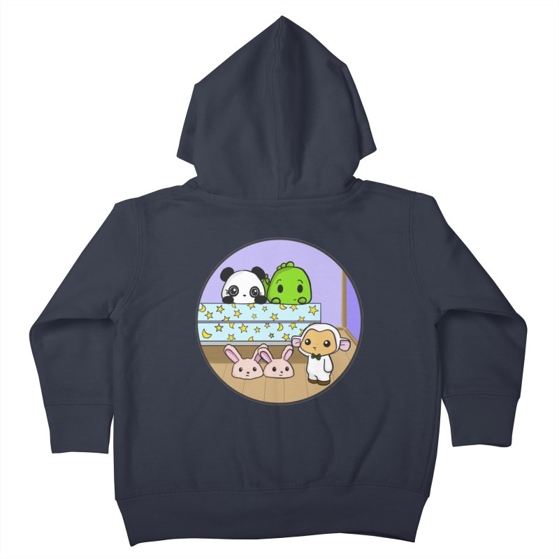 Dustbunny Friends Kids Toddler Zip-Up Hoody by Dino & Panda Inc Artist Shop