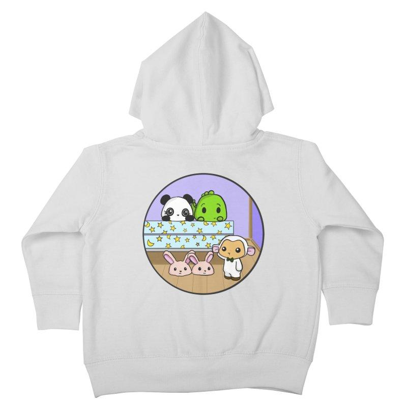 Dustbunny Friends Kids Toddler Zip-Up Hoody by Dino & Panda Inc Artist Shop