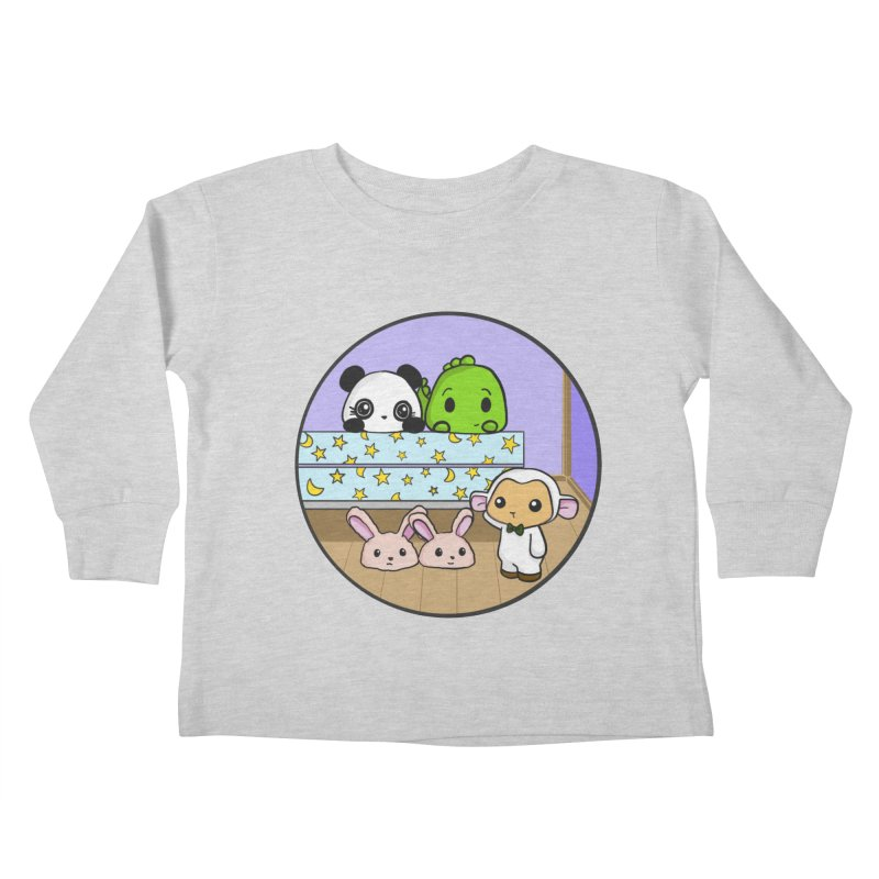 Dustbunny Friends Kids Toddler Longsleeve T-Shirt by Dino & Panda Inc Artist Shop