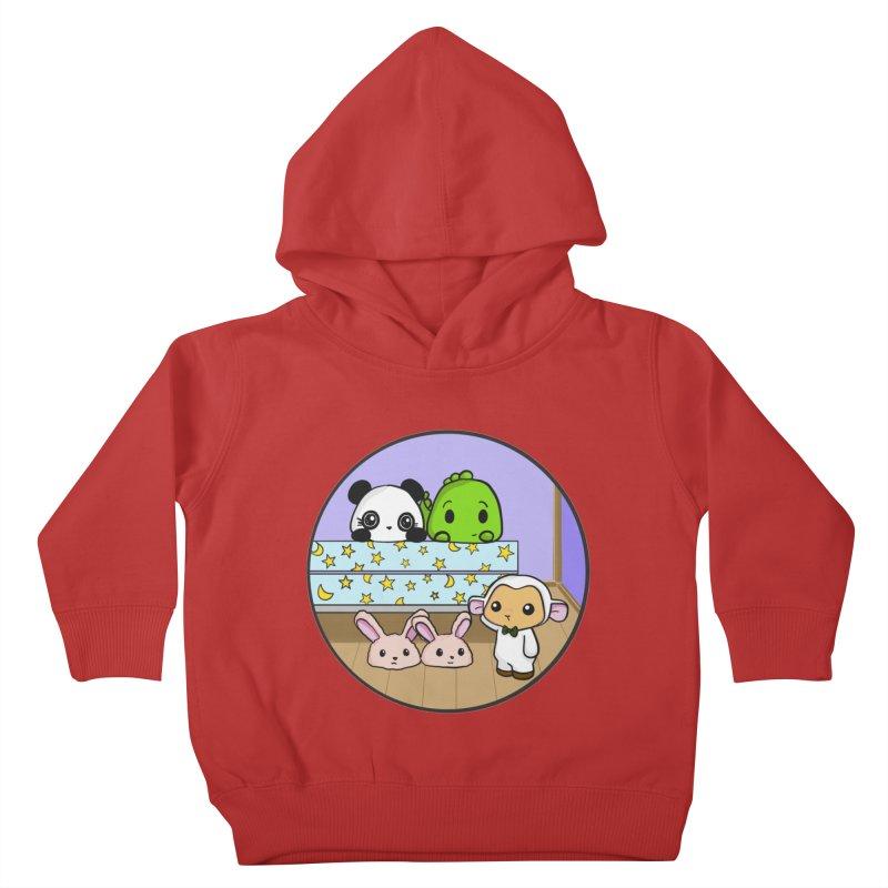 Dustbunny Friends Kids Toddler Pullover Hoody by Dino & Panda Inc Artist Shop