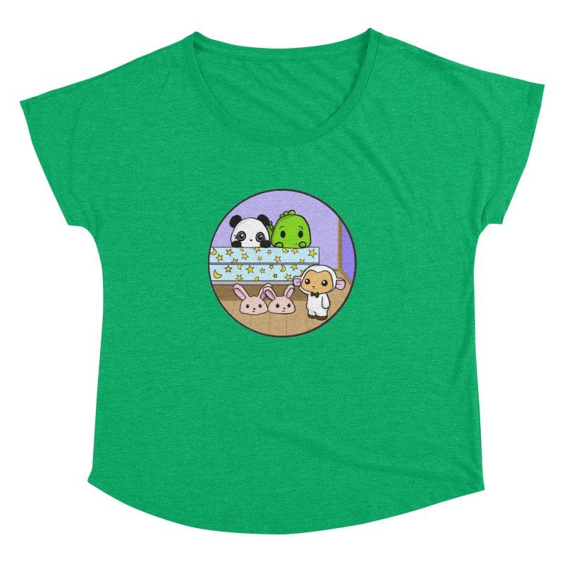 Dustbunny Friends Women's Dolman Scoop Neck by Dino & Panda Inc Artist Shop