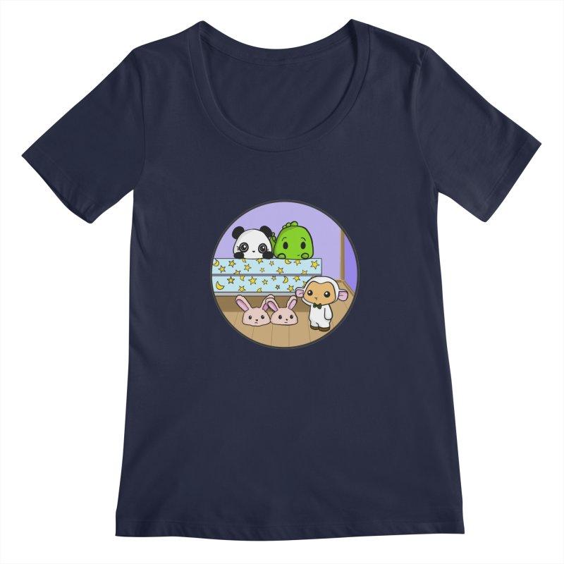 Dustbunny Friends Women's Regular Scoop Neck by Dino & Panda Inc Artist Shop