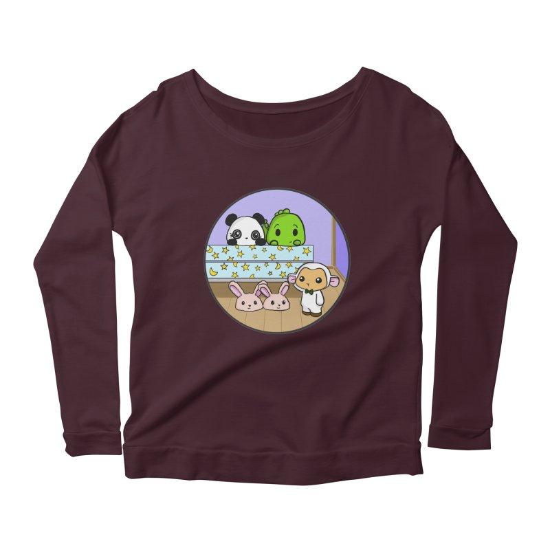 Dustbunny Friends Women's Scoop Neck Longsleeve T-Shirt by Dino & Panda Inc Artist Shop