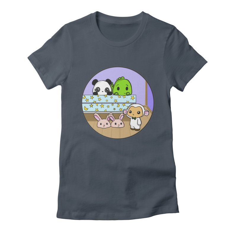 Dustbunny Friends Women's Fitted T-Shirt by Dino & Panda Inc Artist Shop