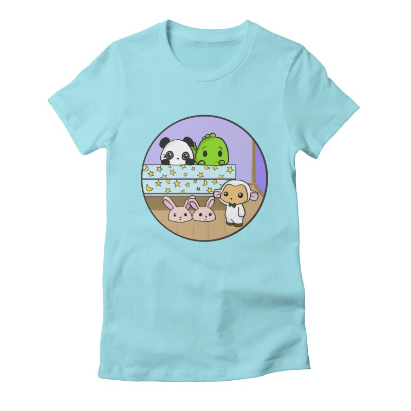Dustbunny Friends Women's Fitted T-Shirt by Dino & Panda Inc Artist Shop