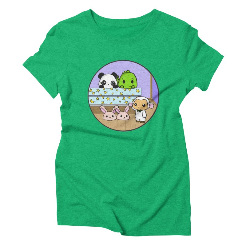 Dustbunny Friends Women's Triblend T-Shirt by Dino & Panda Inc Artist Shop