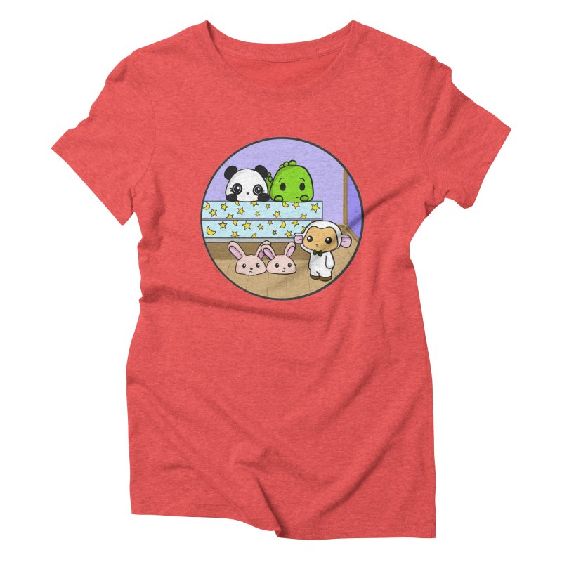 Dustbunny Friends Women's Triblend T-Shirt by Dino & Panda Inc Artist Shop