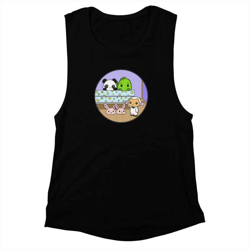 Dustbunny Friends Women's Muscle Tank by Dino & Panda Inc Artist Shop