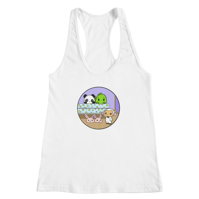 Dustbunny Friends Women's Racerback Tank by Dino & Panda Inc Artist Shop