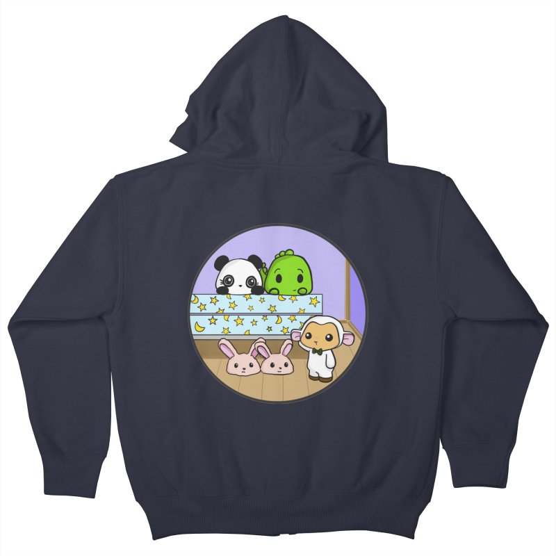 Dustbunny Friends Kids Zip-Up Hoody by Dino & Panda Inc Artist Shop
